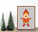 Remy Store Heat Miser Poster/Print - Minimalist The Year Without a Santa Clause Heat Miser Snow Miser Santa Christmas Rankin bass Poster Art Decor
