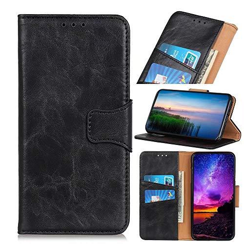 Schutzhülle für Huawei P Smart 2021, Premium-Leder, stoßfest, Brieftaschenformat, Magnetverschluss, Flip-Folio-Ständer, voller Schutz, kompatibel mit Huawei P Smart 2021, Schwarz