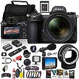 Nikon Z 7II Mirrorless Digital Camera 45.7MP with 24-70mm Lens (1656) + FTZ Mount + 4K Monitor + 64GB XQD Card + Pro Mic + Corel Software + Case + Filter Kit + More - International Model (Renewed)