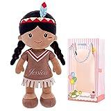 WANGSHOFENG De la muñeca de Trapo de Chicas muñecas Soft Regalos Personalizada Nombre 40CM Amarillo ...