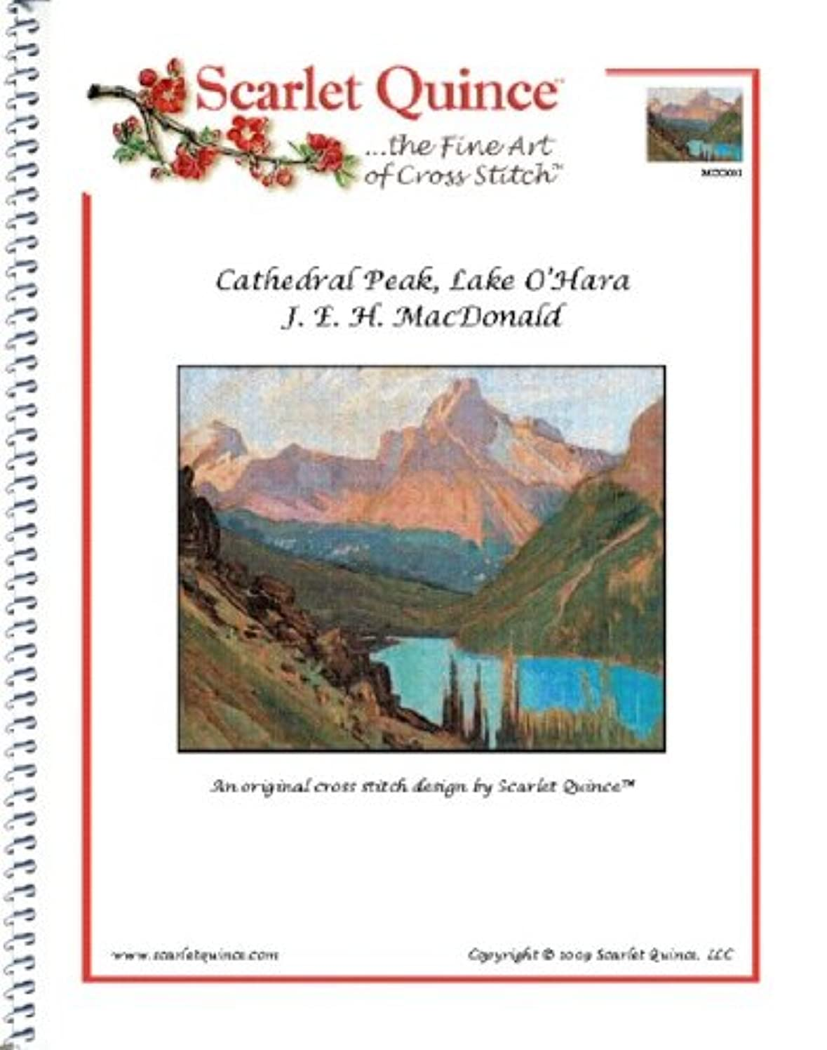 Scarlet Quince MDO001 Cathedral Peak, Lake O'Hara by J. E. H. MacDonald Counted Cross Stitch Chart, Regular Size Symbols