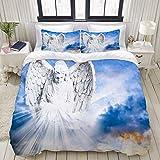 Funda nórdica, Angel Bringing Light, Juego de Cama Juego de edredón de poliéster Ultra cómodo y liviano