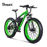1000W ebike Fat Tire Vélo Électrique Pliant Vélo De Montagne 26 'Suspension Complète 48V12AH 21 Vitesses Pédale Assist (MX02 Vert)