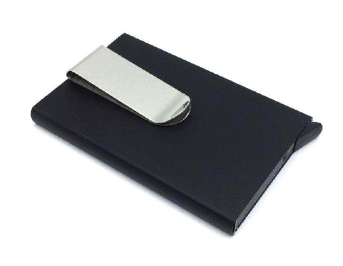 手紙を書くアーク一瞬[シュガーレス] スマート カードスロット マネークリップ トリガー式 ホルダー 強固 メタル ハード ケース