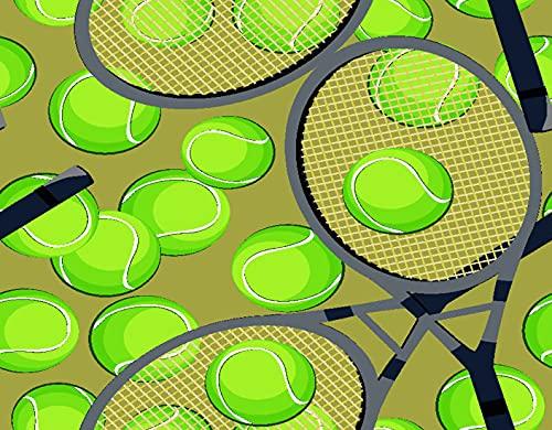 TISAGUER 5D Diamante Pintura por Número Kit,Patrón de fondo transparente con pelotas de tenis y raqueta,Bricolaje Diamond Painting kit completo Bordado Decoración del hogar