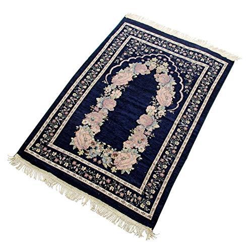 FTIK Alfombra para Rezar Islam,Alfombra de oración Musulmana de rezo,Janamaz,Sajjadah,Soft islámica Prayer Rug,Regalos islámicos,Alfombra de la oración 70x110cm A6
