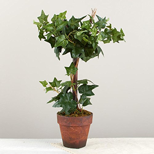 Factory Direct Craft Poly Silk Ivy Topiary in Faux Terracotta Pot   for Indoor Decor