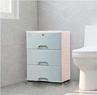KOKOF Étagère de toilette d'angle pour toilettes - Armoire de rangement - Armoire de rangement - Meuble de rangement - Meu...
