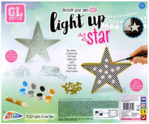 GL Style Decorate Your Own Light up Star Craft Activity Kit