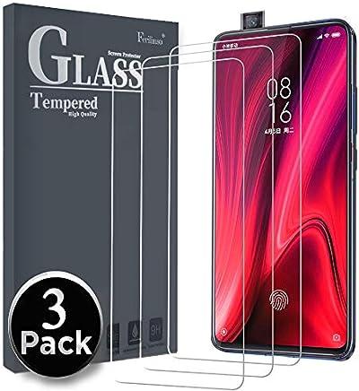 Ferilinso Cristal Templado para Xiaomi Mi 9T /Xiaomi Mi 9T Pro Cristal Templado, [3 Pack] Protector de Pantalla Screen Protector con garantía de reemplazo de por Vida