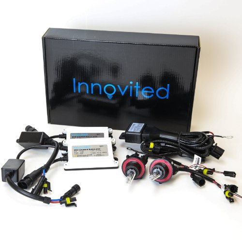 Innovited 55W AC Xenon HID Lights with Slim Digital Ballast H13-3 9008 6000K Bi xenon HI/LO Diamond White