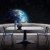 Carta Da Parati Murales,Creativo Gran Tamaño Arte Impresión Moderna Estrella Tierra Universo Luna Cartel Pared Arte Mural De La Pared De La Pintura De La Pared Para La Sala De Estar De La Entrada