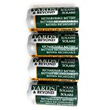 Yards & Beyond SOLAR RECHARG BATTERY4PK by LIVING ACCENTS MfrPartNo BTNC23AA150D4, Green/silver,