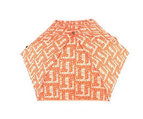 Knirps Flat Duomatic Scrabble Orange