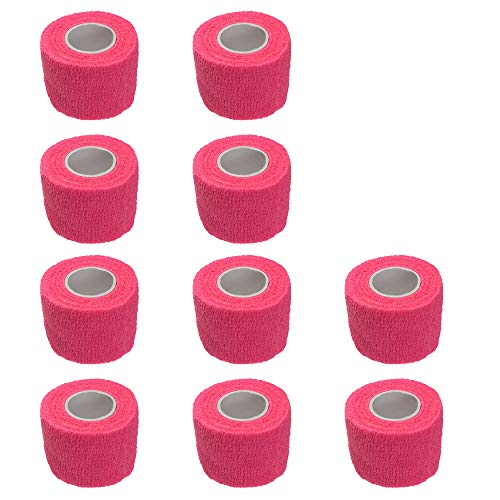 Etopars 10 X Self Adhesive Cohesive Wrap Bandages Strong Elastic First Aid Tape Pink for Wrist Ankle Sport 2' X 5 Yards