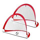 Nuheby But de Foot Enfant Cage De Foot Goal Foot avec Sac Pliable Portable Jeu Exterieur Interieur Loisir Sport Jouet 3 4 5 Ans Garcon Fille Enfant