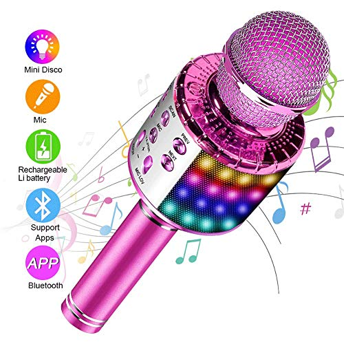 SunTop Micrófono Karaoke Bluetooth, Microfono Inalámbrico