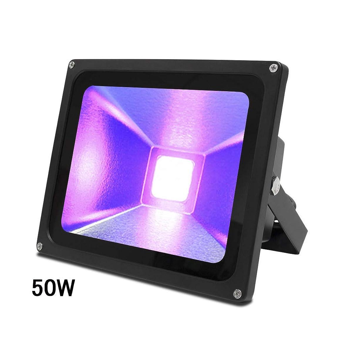もちろんブリーフケース教育者Signstek紫外線UVブラックライト 紫外線ライト LED投光器 防水IP65 パーティー用品 釣り水族館 DJディスコ 舞台照明 雰囲気を作り 50W