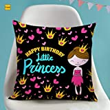 TIED RIBBONS Birthday Gifts for Daughter Girls Kids - Printed Cushion Pillow Cover