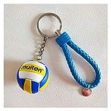Naikaxn Auto Porte-clés de Voiture Mini Volleyball Keychain Sport Football Porte-clés de Voiture Balle ou Ballon Basket-Cadeau Porte-clés Rugby Football Anneau Porte-clés Cadeau d'anniversaire