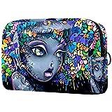 Multifunktionale Make-up-Kosmetiktasche, Tasche für Mädchen mit Tapeten-Motiv