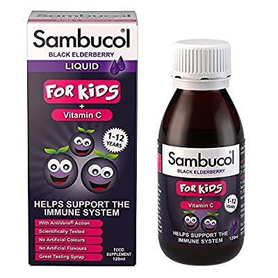 Sambucol Natural Black Elderberry for Kids, 120ml