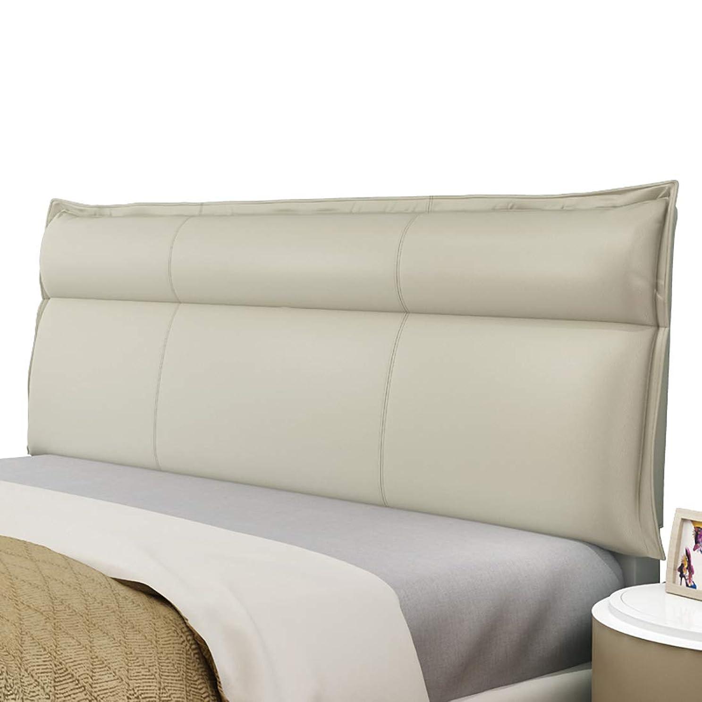 パウダーナンセンス不名誉背もたれ クッション 近代的 シンプル 無ヘッドボードません ベッドを読むための枕 人工皮革 背もたれ 枕 カスタマイズ (120*60cm,グレー)