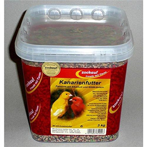zookauf Kanarienfutter Premium im Eimer 3 kg