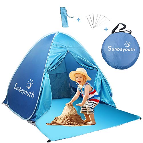 SUNBA YOUTH Beach Tent, Anti UV Beach Shade, Instant Portable Tent Sun Shelter