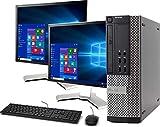 Dell OptiPlex 790 Small Form Computer Desktop PC, Intel Core i5 3.1GHz Processor, 16GB Ram, 120GB M.2 SSD, 1TB Hard Drive, BTO WiFi | Bluetooth, New Dual DELL 19' Monitor, Windows 10 (Renewed)