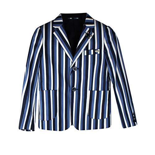 Les Gamins - Conjunto de ceremonia para niños: chaqueta, chaleco, camisa, pantalón, pajarita y bolso turquesa 8 años