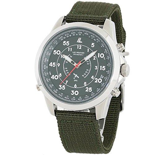 GPS Reloj Analógico Satellite wave reloj Nailon correa Estilo militar