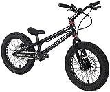 LAMTON Ensayos 16 Pulgadas Street Bicicleta Completa Trial Bike for los niños, Frame TP16 I aleación de Aluminio y Tenedor, WINZIP Doble línea de actuación de Freno de Disco (Color : Negro)