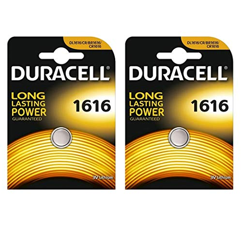 Duracell CR1616 Lithium-Knopfzelle, 3 V, Blisterverpackung, 2 Stück