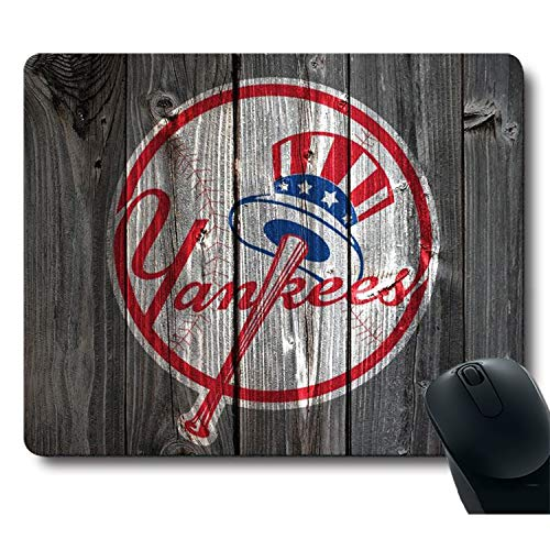 Pawnsuny Vintage Wood Texture Background Passion Sparks Dream, Life Needs Sports Unique Design Non-Slip Rubber Gaming Mouse Pad
