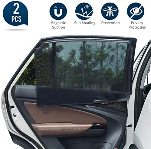 Uarter Universal Car Rear Side Window Magnetic Stretch to Fit Sun Shade Baby Kid Pet Breathable product image