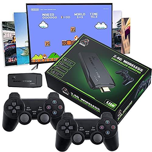 BIGFOX Retro Classic Mini Console di Gioco con 3500 Giochi + Joystick 2 pezzi, Console per videogiochi Arcade Machine, HDMI VGA USB Nuova Sistema Arcade Game Console