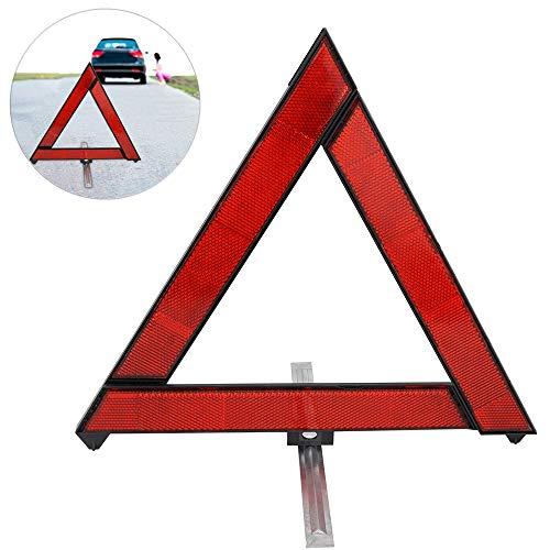 CHUER Warndreieck Notfälle Dreieck, Faltbares Warnsignal Dreieck Pannendreieck Sicherheit Warnzeichen Warnhinweise mit reflektierendes und Aufbewahrungsbox für Autozubehör Notfälle