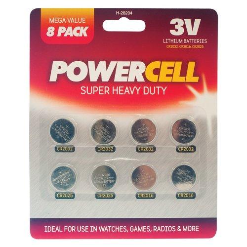 Knopfzelle Batterien–8Pack–für Fernbedienung, Uhren, Radios etc.