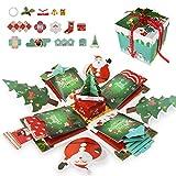 Gifort Weinachten Schachtel, Kreative Überraschung Box DIY Weihnachten Geschenkbox Explosion Box Xmas Geschenkbox handgemachtes Scrapbook, Geburtstagsgeschenke, Partygeschenke, Geschenke...