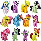 Miotlsy 12 Piezas Cake Topper Unicornio Fiesta Decoración De Unicornio Cake Topper Figuras Unicornio Figuras Decoración Para Tarta Pony Mini Figuras Set