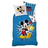Ropa de cama infantil de Mickey Mouse con estrellas en azul,...