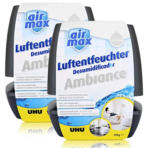 2x Uhu Air Max Ambiance 100g, anthrazit Luftentfeuchter