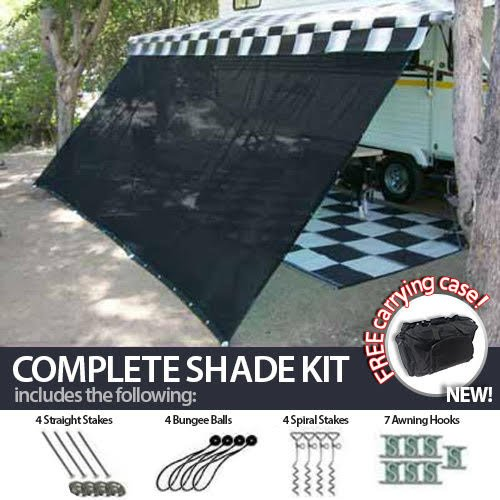 12' x 20' RV Awning Shade Net (Black) Complete Kit with Carry Bag Canopy Shelter Screen Panel and Awning Maintenance Manual Motor Home Trailer