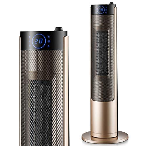 KY Konvektor Heizung Heizkörper Oszillierende keramische Heizung, tragbarer elektrischer Heizlüfter, Personal Space Heater mit heißer Natur Wind (Color : Metallic)