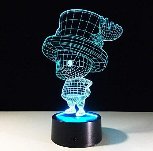 Lampe 3D Cartoon Mickey Mouse Minnie Friends Led Night Light 7 Changement de couleur USB Base Switch Noël Décoratif Kid Toys Gift