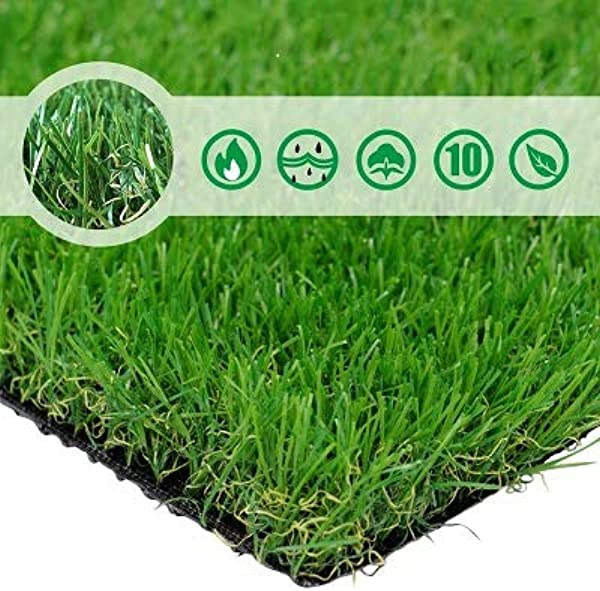 PET GROW Artificial Grass Turf 10FTX20FT 200 Square FT Realistic Indoor Outdoor Garden Lawn Landscape Patio Synthetic Turf Mat Thick Fake Faux Grass