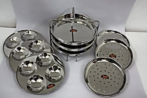 FERUM 3IN1 Multipurpose Stand Big 9 Plates(IDLY,IDIAPPAM,DHOKLA) (8X3) Suitable for-7.5-Litre Prestige Cooker, Stand ...