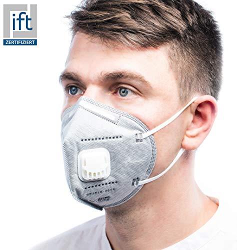 ViTho [10 Stück TOP Schutz inkl. Ventil | Atmung Schutz gegen Staub, Pollen, Abgase, Luftverschmutzung