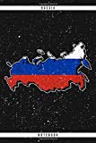 Russia. Notebook: Dotted Notebook with 120 pages. Cool illustration with the Russian map and flag. Ideal to write down important things